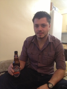 Image of Matthew Insley with beer